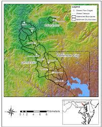 Gunpowder Falls State Park Map by Usgs Baltimore Ecosystem Study