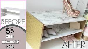 Diy Marble Coffee Table by Marble And Gold Glitter Shoe Organizer Hack D I Y Youtube