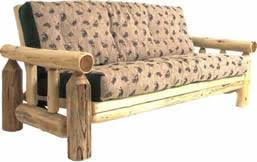 log furniture hand crafted style futons cabin place