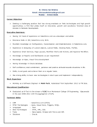 Salesforce Developer Resume Samples by Chinna Sai Krishna Expereance Salesforce Resume