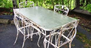 Wrought Iron Patio Tables Captivating Vintage Wrought Iron Patio Table And Chairs Details