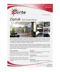 Track Guided Outdoor Blinds Elegant Playful Brochure Design For Ozrite Awnings U0026 Outdoor