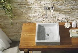 mya natural stone bathroom vessel sink in bianco carrara marble
