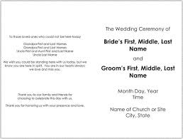 free wedding program templates microsoft word wedding invitation