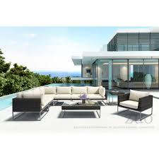 Dynamic Home Decor Braintree Ma Us 02184 Zuo Modern 703837 Malibu Outdoor Side Table In Brown Weave