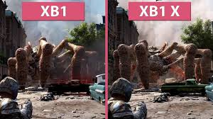 pubg xbox one x vs xbox one gears of war 4 xbox one x vs xbox one graphics comparison