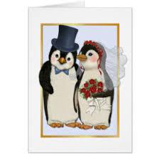 penguin wedding cards greeting photo cards zazzle