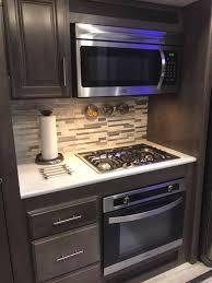 rv kitchen cabinet storage ideas update the rv kitchen backsplashes more