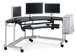roll out computer desk metal computer desk with wheels 4 great types of metal computer