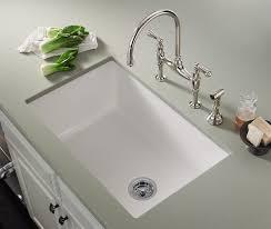 Kitchen White Undermount Sinks Kohler Fresno Porcelain Quartz Uotsh - White undermount kitchen sinks single bowl