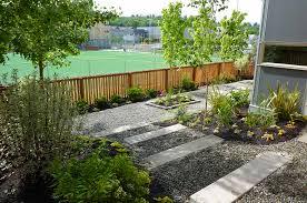 garden ideas garden landscaping design with wooden fence design