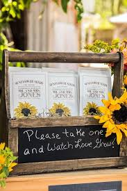 sunflower seed wedding favors 12 sunflower ideas for a rustic wedding sunflower seeds