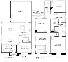 Large Townhouse Floor Plans Arterro Floor Plan 4r New Homes In La Costa North County New