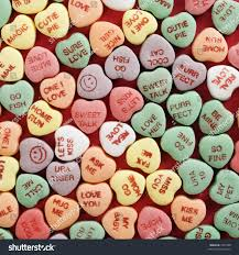 heart candy sayings large colorful candy hearts sayings stock photo 3210588