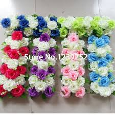 wholesale artificial flowers new 10pcs wedding flower wall stage backdrop decorative wholesale