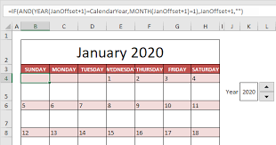 calendar template in excel easy excel tutorial