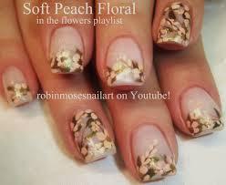 easy wedding nails vintage flower nail design tutorial youtube