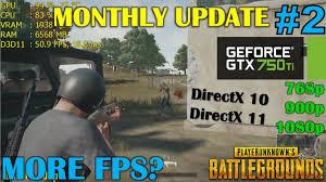 pubg 750 ti gtx 750 ti playerunknown s battlegrounds monthly update 2