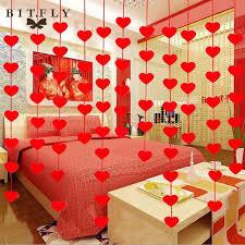 aliexpress com buy romantic love heart curtain garland flags