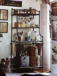 pottery barn bakers rack janet u0027s fabulous cottage kitchen ideas