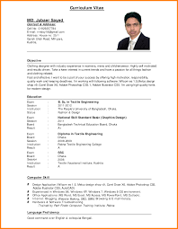 exle of resume format for cv sle for matthewgates co