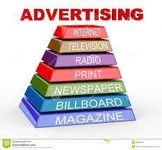 3d pyramid of advertising media stock images image 28999014