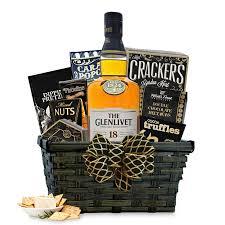 buy the glenlivet 18 year scotch gift basket online scotch gift
