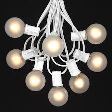 g40 string lights frosted white g40 globe outdoor string light set on white