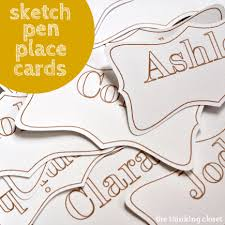 silhouette giveaway promotion u0026 sketch pen place cards u2014 the