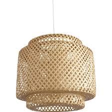 tonnelle en bambou lampe e27 utaka inspire bambou naturel 40 w leroy merlin