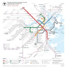 Boston Metro Map by Boston U0027s Mbta Transit Map Update Showing Current Service After