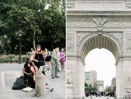 wedding arch nyc new york wedding photographer washington square park nyc