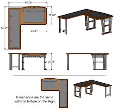 Computer Desk With Return Modern Computer Desk L Shaped Left Caretta Workspace