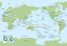 Alaska Route Map by Blue Planet Odyssey Route Map Click To Enlarge Sailing Around