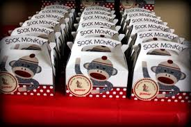 Sock Monkey Favors by A Sock Monkey Themed 1st Birthday Spaceships And Laser Beams