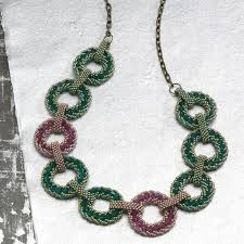 necklace pattern collection images Bead weaving old and new combine for a rich beaded pattern jpg