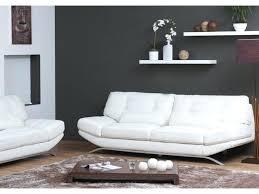 canap cuir ivoire canape cuir blanc 3 places canapac 3 places cuir blanc cassac neuf