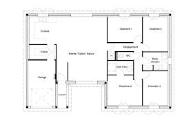 plan maison rdc 3 chambres plan maison rdc 3 chambres plan modle plainpied with plan maison