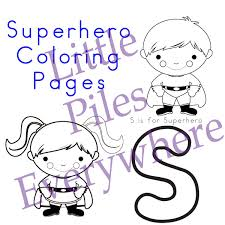 superhero coloring pages free little piles everywhere superhero coloring pages