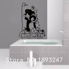 popular shop dog window decorations buy cheap shop dog window grooming salon vet clinic pet salon vinyl wall decal dog in shower mural art wall sticker