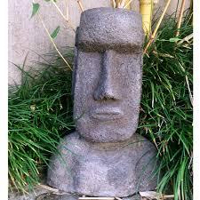 easter island moai garden statue zanana mu