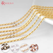 diy necklace chains images 8470 5 meters chain width 1mm 1 5mm 2mm 2 8mm copper flat oval jpg