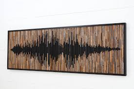 wall design ideas wave sound abstract wood wall