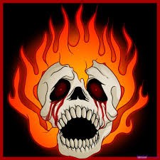 how to draw a skull on fire step by step skulls pop culture