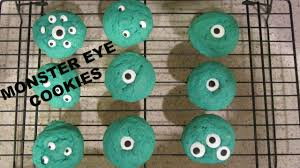 Monster Halloween Cookies by Monster Eyeball Cookies Easy Halloween Cookies Youtube