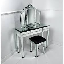 furniture corner mirrored vanity table pier one with drawer and