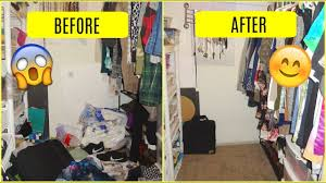 extremely messy closet clean speed clean with me after dark