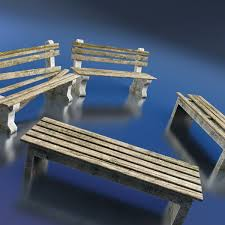 Model Bench Benches 3d Model Cgtrader