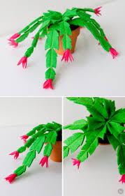 diy felt gift attachments christmas cactus cacti and craft