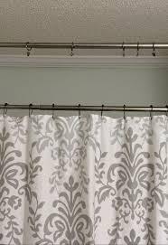 bathroom curtains ideas shower curtain ideas no sew shower curtain valance in bathroom